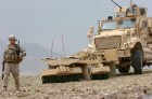 SPARK rollers on MRAP in Afghanistan