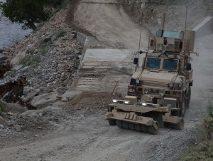 SPARK rollers on RG-31 MRAP in Afghanistan