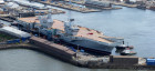 QE aircraft carrier at Rosyth - image #1