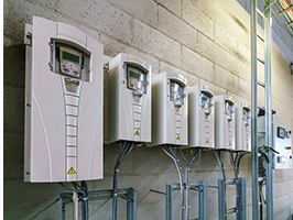 Array of variable frequency drives